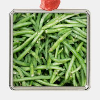 Veggie verde orgánico Vegitarian de las habas Adorno De Cerámica
