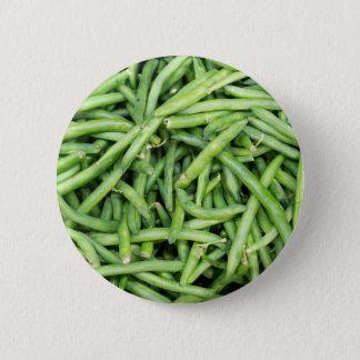 Veggie verde orgánico Vegitarian de las habas Chapa Redonda De 5 Cm
