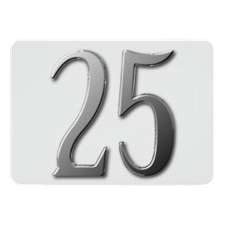 Veinticinco Invitación 12,7 X 17,8 Cm