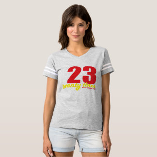 veintitrés tengo gusto de la bola de la cesta camiseta