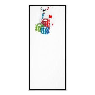 Veintiuna con las fichas de póker tarjeta publicitaria personalizada
