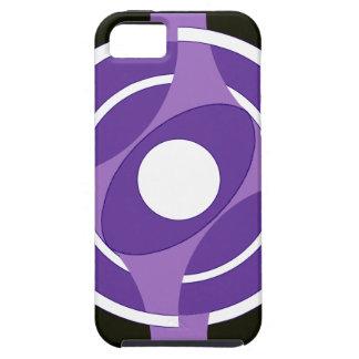 Vejiga de la diana redonda (púrpura) iPhone 5 funda