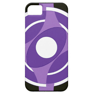 Vejiga de la diana redonda (púrpura) iPhone 5 Case-Mate protector