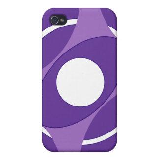 Vejiga de la diana redonda (púrpura) iPhone 4 cobertura