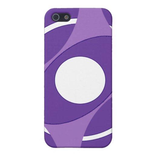 Vejiga de la diana redonda (púrpura) iPhone 5 cobertura