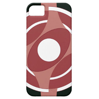 Vejiga de la diana redonda (rojo) iPhone 5 Case-Mate cárcasa