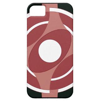 Vejiga de la diana redonda (rojo) iPhone 5 Case-Mate cobertura