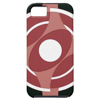 Vejiga de la diana redonda (rojo) iPhone 5 carcasas