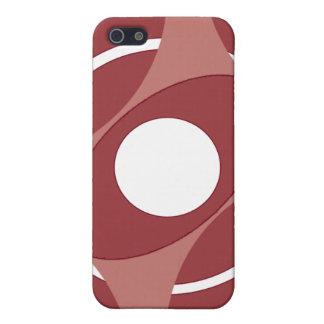 Vejiga de la diana redonda (rojo) iPhone 5 cárcasas