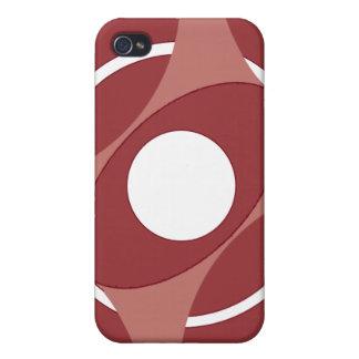 Vejiga de la diana redonda (rojo) iPhone 4 cobertura