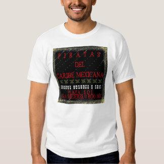 Vela de Piratas del Caribe Mexicana Camiseta