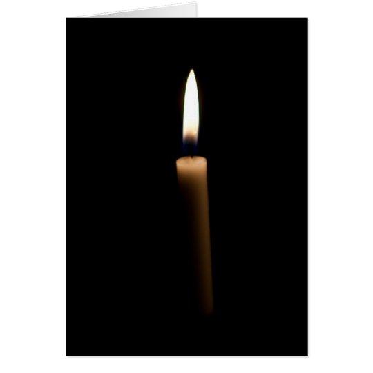 Vela del Lit en la oscuridad Tarjeta De Felicitación