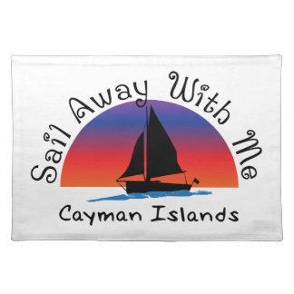 Vela lejos conmigo Islas Caimán. Salvamanteles