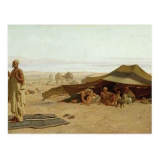 Velada de oración en el oeste, 1872 postal