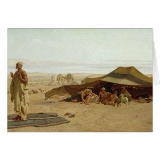 Velada de oración en el oeste, 1872 tarjeta de felicitación