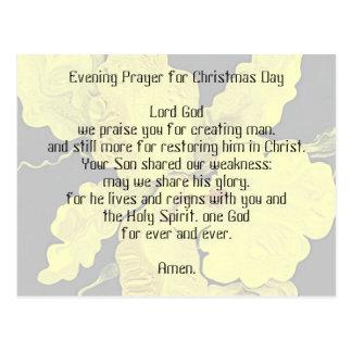 velada de oración para el día de navidad postal