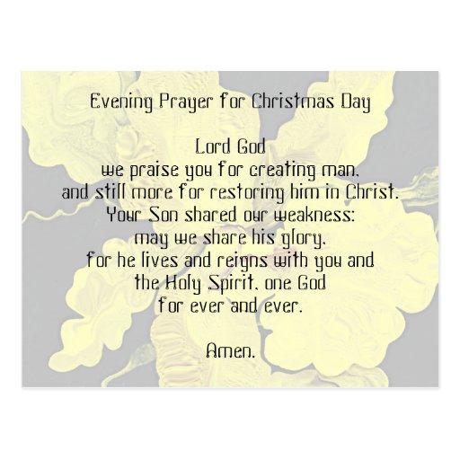 velada de oración para el día de navidad tarjetas postales