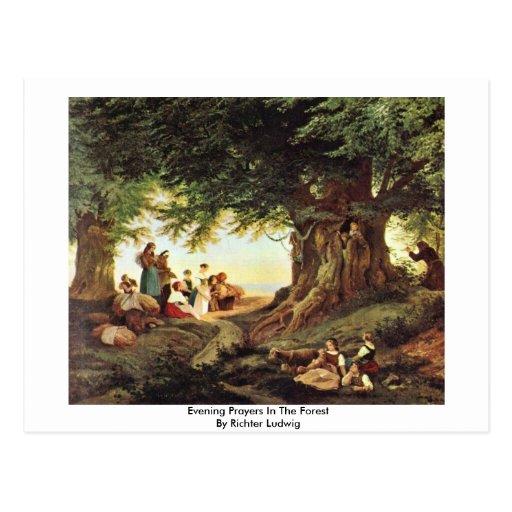 Veladas de oración en el bosque de Richter Luis Tarjetas Postales
