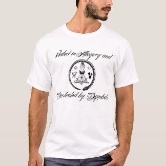 Velado en alegoría e ilustrado por símbolos camiseta