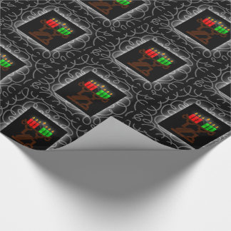 Velas de Kinara del Lit de Kwanzaa con negro y Papel De Regalo
