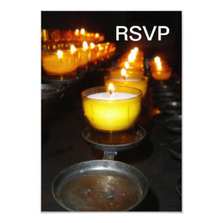 Velas de la iglesia invitación personalizada