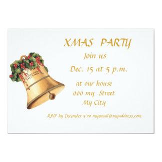 Velas de la invitación de la fiesta de Navidad