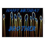 Velas del feliz cumpleaños de tarjeta de Brother