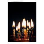 Velas para cumpleaños tarjeta de felicitación