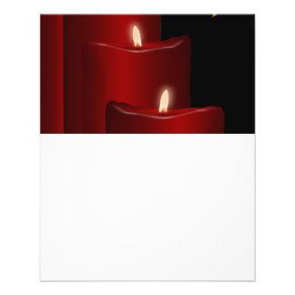 Velas, rojas tarjetas publicitarias
