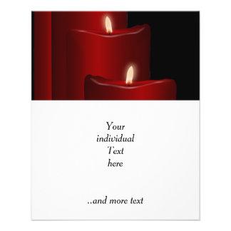 Velas, rojas folleto 11,4 x 14,2 cm