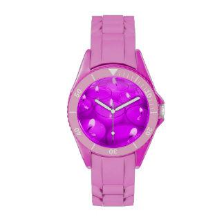Velas rojas violetas relojes de pulsera