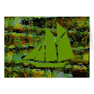 Velas verdes de la mafia de la laguna tarjeta de felicitación