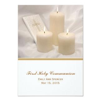 Velas y comunión santa #2 del libro de oración invitación 12,7 x 17,8 cm