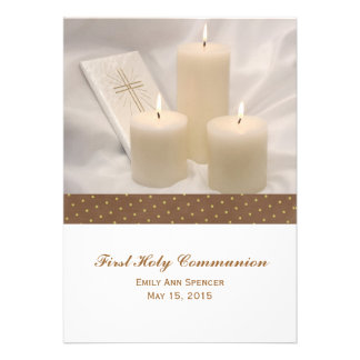 Velas y comunión santa del libro de oración primer comunicados personales