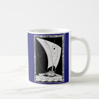 Velero de Viking Longship Taza De Café