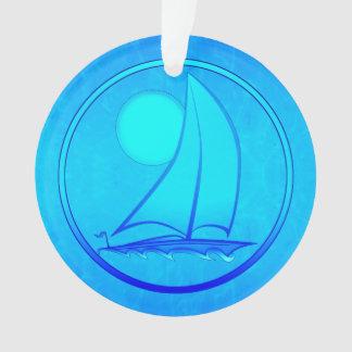 Velero del azul de océano