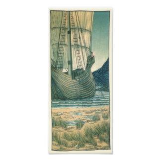 Velero del santo grial en el océano arte fotográfico