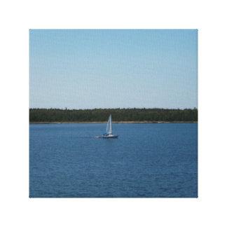 Velero en el lago Ontario Impresión En Lienzo