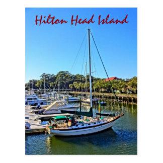 Velero en el puerto deportivo Hilton Head Island Postal