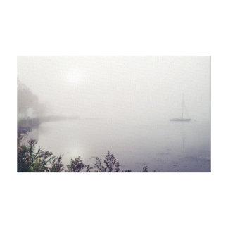 """Velero en la niebla 20x12 .75"""" lienzo"""