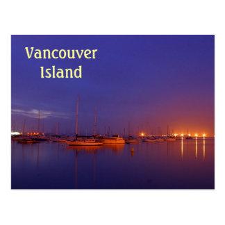 Veleros de la isla de Vancouver en puerto deportiv Postal