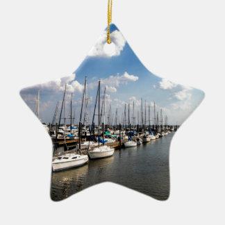 Veleros Georgia los E.E.U.U. del puerto deportivo Adorno Navideño De Cerámica En Forma De Estrella