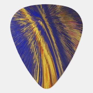Velocidad del azul y del oro de la púa de guitarra