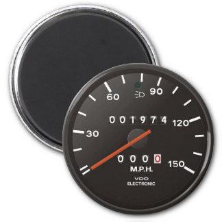Velocímetro de la obra clásica 911 (coche imán redondo 5 cm