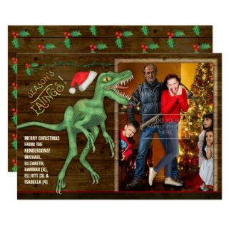 Velociraptor divertido de la tarjeta el | de la invitación 12,7 x 17,8 cm