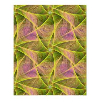 Velos del fractal folleto 11,4 x 14,2 cm