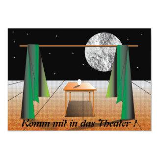 Ven en el teatro también! invitación 12,7 x 17,8 cm