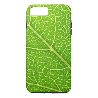 Venas verdes 04 de la hoja funda para iPhone 8 plus/7 plus