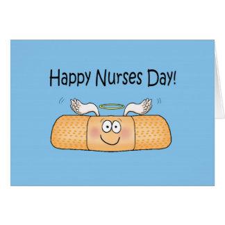 Vendaje caprichoso del día de las enfermeras de la tarjeta de felicitación