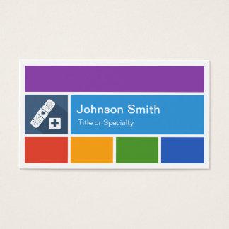 Vendaje de la tirita - estilo moderno creativo del tarjeta de visita